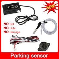Freeshipping Auto Electromagnetic parking sensor no drill hole Car Reverse Parking Assistance Radar Sensors Backup Radar System