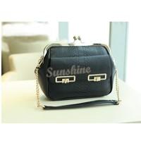 2014 Evening Bag New designer Woman's Handbag Envelope PU Leather Purse Metal Sling Clutch Bag Latest Purses b10 7358