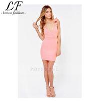 2014 New Women Sexy Halter Strap Slim Fit Summer Dress Stretch Wrap Design
