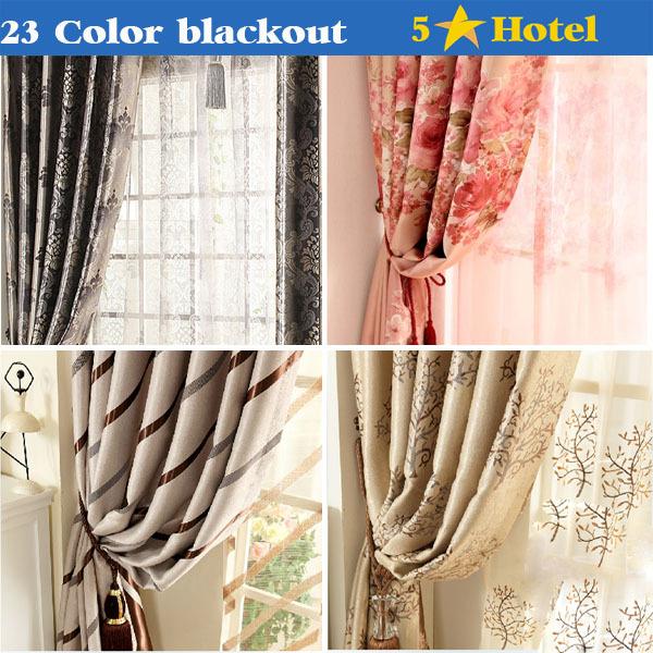 Versandkostenfrei mode stil design romantische Schatten verdunkelungsvorhang mit abgestimmt schiere Größe 3*2.5m, Fenstergröße 1. 5* 2. 5m
