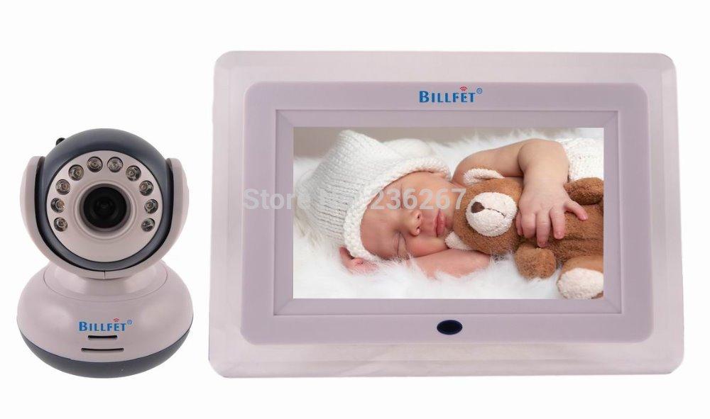 Wireless 7inch LCD Monitor 2.4GHZ Digital Baby Monitors Video Babysitter 2 way Talking Intercom Safety baby intercom systems(China (Mainland))