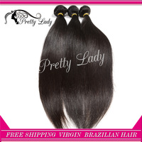 Pretty lady  hair 6A unprocessed Brazilian virgin straight hair extension genesis virgin hair DHL free shipping