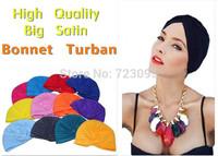 10pcs Hot selling muslim hat hijab islamic turban, Yoga cap, India women's inner caps yoga hat stretch elastic hair bands turban
