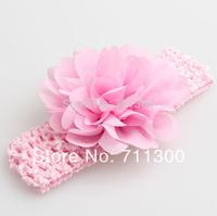 wholesale 5pcs/lot 2014 new 6 color baby girls Chiffon flower headband infant headwear kids headbands children hair accessories