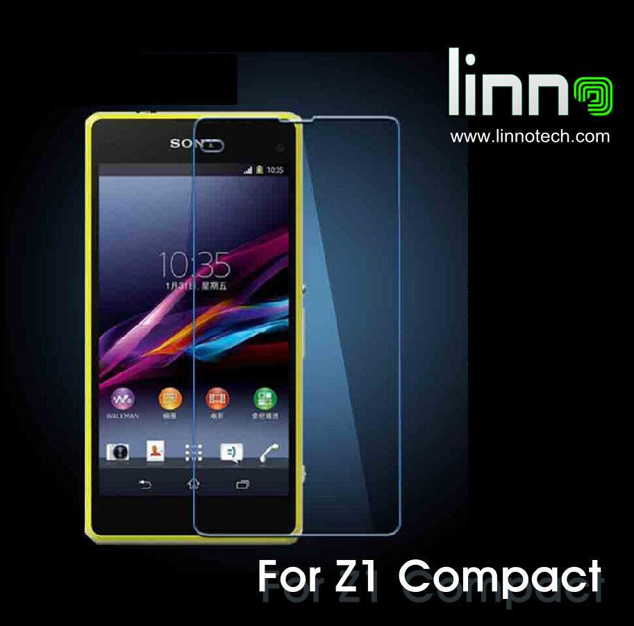 L'arrivée de nouveaux 2.5d premium trempé verre de protection écran pour sony z1 compacte. z1mini film de protection avec le paquet de livraison gratuite