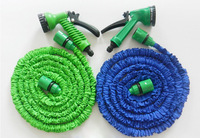 50FT Hose with gun WATER GARDEN Pipe Green Water valve+ spray Gun With EU or US connector seen on TV,Free Shipping!