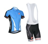 2014 Castelli Cycling Jersey  Short Sleeve or bib Shorts Quick Dry Silicon gel pad Castelli cafe sidi cycling Clothing