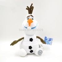2014 New 30CM Movie Frozen Dolls Frincess Elsa Anna Snowman Olaf Plush Soft Toys Baby Classic Toy Children Kids Christmas Gifts
