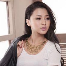 Vintage Gold Hollow Flower Shorts Ethnic Alloy False Collar Choker Statement Necklaces Pendants 2014 Fashion Jewelry