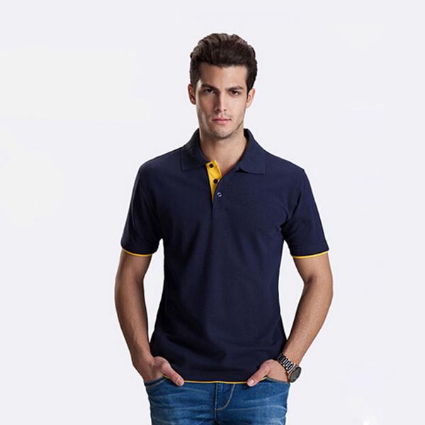 Promotion blank Polo shirts Custom Polo Logo 200g 65%cotton unisex short sleeve pure color Custom POLO shirts 807(China (Mainland))