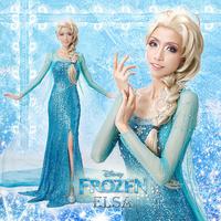 Elsa Costume Frozen Dress Custom-made Movie Cosplay Costume Princess Elsa Dress Frozen for Adult Women Support Custom
