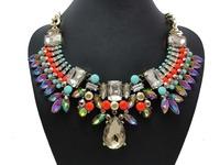 2014 New Brand Big Crystal Statement Women Necklaces & Pendants Chunky Shourouk Fashion Vintage Choker Jewelry Wholesale