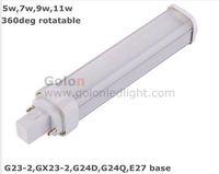 LED PL lamp 11W/9W/7W/5W  G24 G23-2,E27 E26 base, Ra80 Isolated driver 50pcs/lot,3 years wararnty Fedex/DHL free G24 LED PL lamp