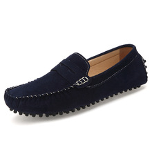 2014 spring men shoes fashion men's flats casual shoes men suede leather gommini loafers moccasin sapatos masculinos 2019(China (Mainland))