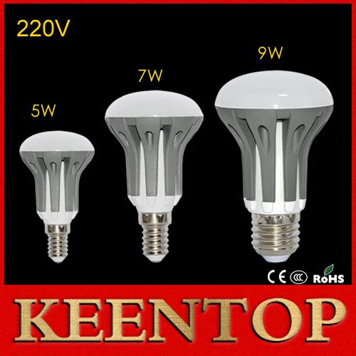 High Lumen E14 E27 Dimmable Umbrella LED Lamps 5W 7W 9W AC85-265V LED Lights Ball Bulb Ceiling Pendant Lights R39 R50 R63 1PCS()