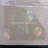 ID transparent hologram overlays stickers