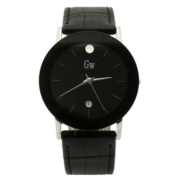 Gold Winner Brand Ultra Thin Quartz Watches Date Man Boy Leather Wrist Watches Waterproof Stainless Steel Watches GW180047(China (Mainland))