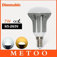 LED bulb E14 220V Dimmable LED lamp light Energy Saving SMD 2835 7W White / Warm White led lighting 6PCS/LOT Dropshipping