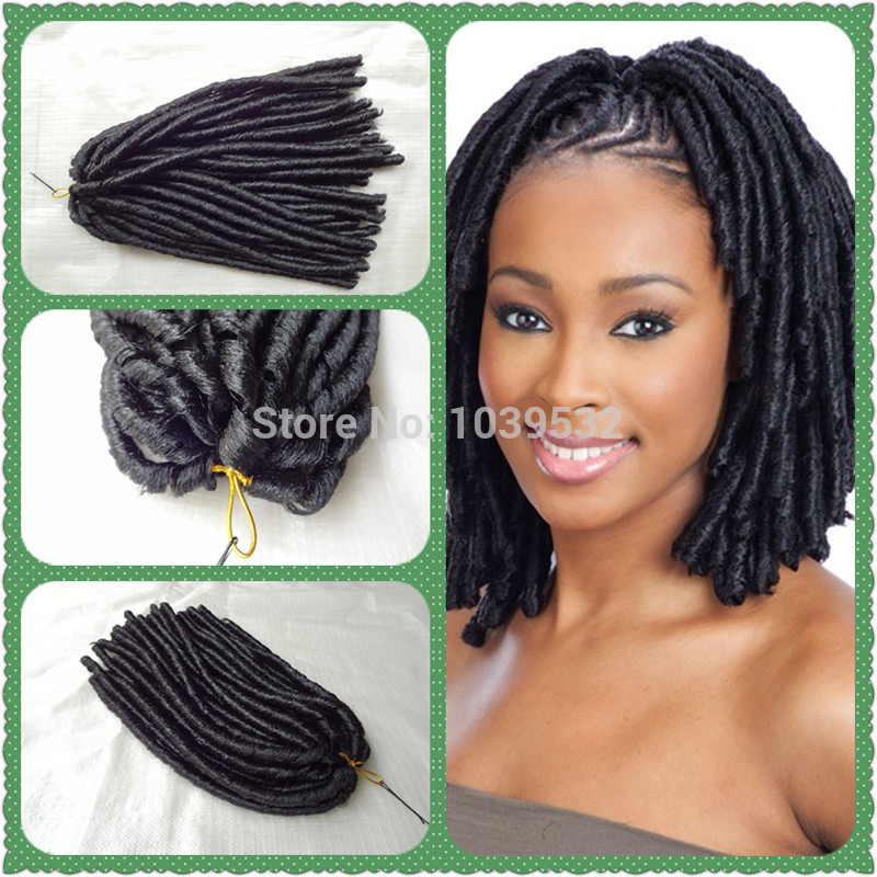 Synthetic Hair Extension Soft Dread Locks,Black Color, 70g/pc, use 100 ...