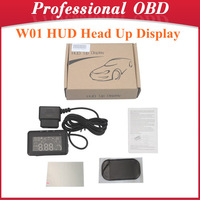 W01 HUD Head Up Display LED Car HUD Head Up Display With OBD2 Interface Plug & Play Speeding Warn System W01