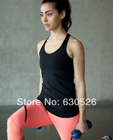 2014 Hot Sell Colorful Lulu Tops Brand Women's Casual Yoga Tanks Sexy Lady Comfy Lulu  Gym Raceback Vest Cheap Sale
