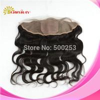 Stock (13x4) Silk Base Frontals 6a Grade Natural Color Malaysian Body Wave  Virgin Hair Silk Base Top Lace Frontal Closure Piece