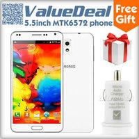 Original M-HORSE N9000W MTK6572 Dual Core Cell Phone Android 4.2 Dual Sim 5.5inch highscreen 512M+4G 2.0MP 3G/GPS/Air Gesture