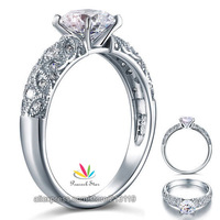 Wholesale Vintage Style 1 Carat Created Diamond Solid 925 Sterling Silver Bridal Wedding Engagement Ring Jewelry CFR8108