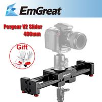 """Portable 3/8"""" Adjustable Camera Video Slider V2 Short 400mm For SLR DSLR DV Camera Up to 8kg Dolly Stablizer P0010554"""
