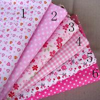40cm*50cm 6 pcs Pink Cotton Fabric Kids BeddingTextile For Sewing Tilda Doll Cloth Fat Quarter Quilting Patchwork