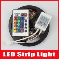 5m RGB Led Strip 3528 SMD 300 Leds Flexible Light fita Led 12V Ribbon Lamp + 24KEY IR Remote Controller,Free Shipping