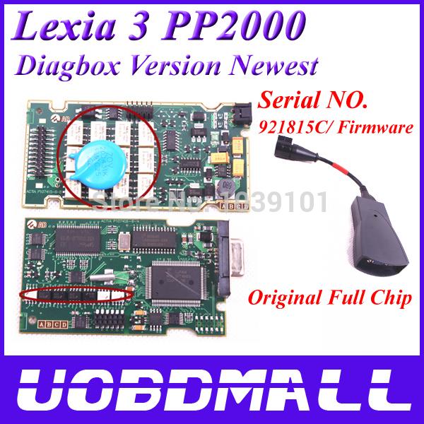 PP2000 V25 Lexia3 Lexia-3 V48 Diagbox 7.57 Serial 921815C With Original Full Chip Lexia 3 PP2000 Citroen Peugeot Diagnostic Tool(China (Mainland))
