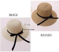 New Arrival 2014 Women Sun Hat Fashion Women's Foldable Straw Hats Beach Headwear 2 Colors b7 SV002276