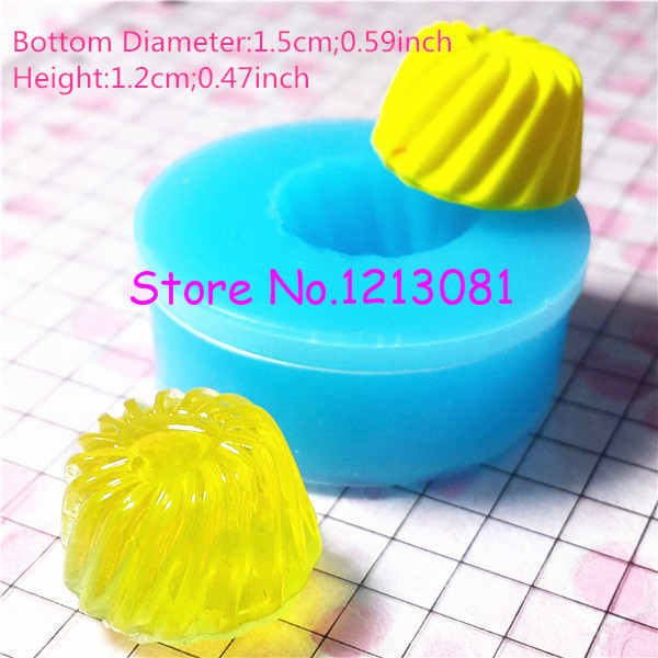 GYL011 Jelly Flexible Silicone Mold Miniature Food, Cupcake, Jewelry, Charms (Resin Paper Clay Fimo Soap Wax Gum Paste Fondant)(China (Mainland))
