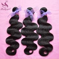 Rosa Hair Products Brazilian Virgin Hair Weaves 3/4pcs lot Natural Black 6A Unprocessed Brazilian Body Wave Human Hair Extension