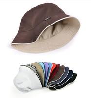 Hot selling bucket hats men reversible two sides can wear 100% cotton sun cap touca comfortable chapeu fisherman hat