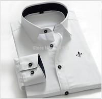 2014 camisa forma caber camisa slim camisa de manga comprida camisa dos homens casual designer blusas masculinas