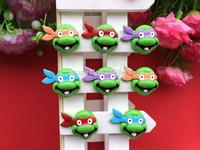 Free Shipping 50 PCS/Lots DIY Very Hot and Kawaii   Resin Teenage Mutant Ninja Turtles cabochons  wholesale  for DIY