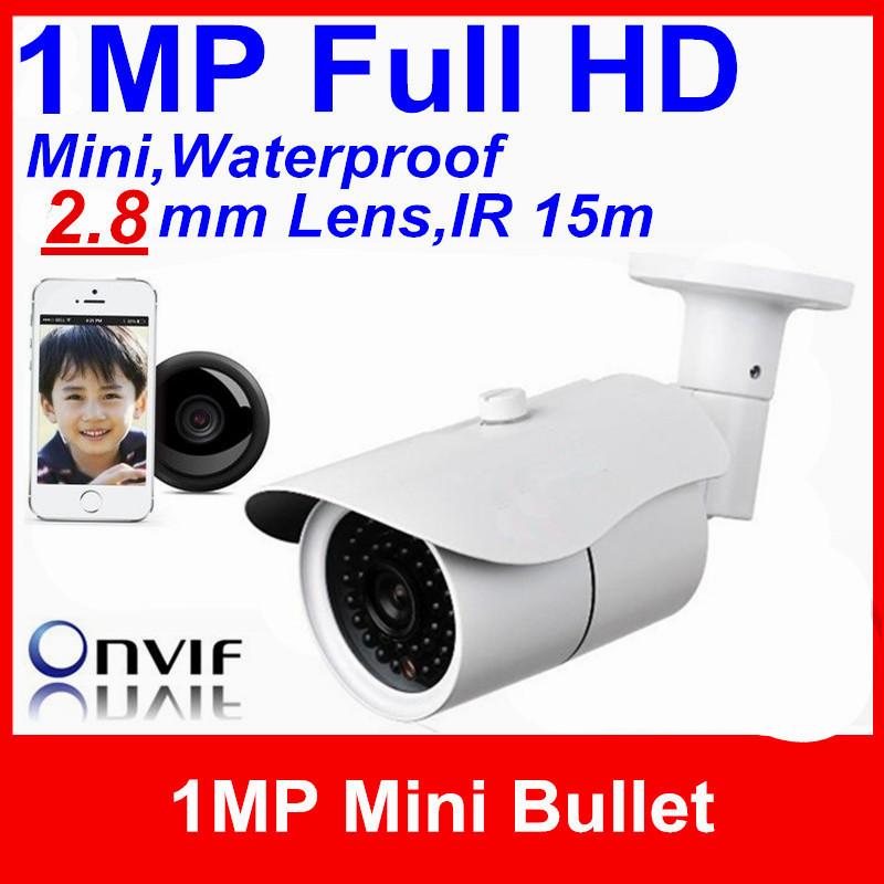 Big Promotion!Mini security CCTV HD outdoor IR IP Camera 1 Megapixel 2.8mm Lens ONVIF POE Optional Bullet webcam/work Hikvision(China (Mainland))