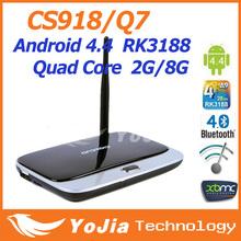 Original del androide TV Box CS918 Q7 MK888 K - R42 Quad Core RK3188 Bluetooth 2GB / 8GB Mini PCXBMC Aplicaciones famosa & ADD ONS preinstalado(China (Mainland))