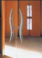 Architectural Door Handle 304 Satin Stainless Steel Special Shape PA-175-38*600mm For Wooden/Frame/Glass Doors