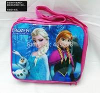 cartoon lunch box set for kid Nylon Cartoon princess Lunch bag school bag mix order/frozen lunch box