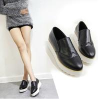2014 Fall New England Retro Shoes Thick Crust Muffin Korean Tidal Shoes Women's Flat Shoe Free Shipping