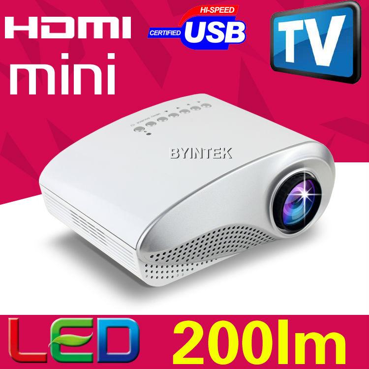 Newest 200lumens LED LCD 1080P Portable Pocket Video Pico Micro Small Mini 3D Projector HDMI USB AV VGA TV Tuner Tripod(China (Mainland))