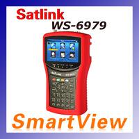 1pc original Satlink WS 6979 DVB-S2&T2 Combo digital satellite finder Spectrum analyzer constellation finder meter free shipping
