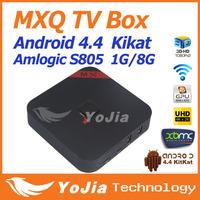 1pc Original MXQ TV BOX MX Amlogic S805 Quad Core Android 4.4 Kitkat 4K 1GB/8GB XBMC WIFI Airplay Miracast Free Shipping
