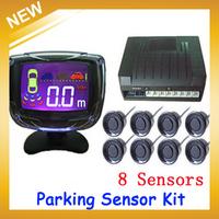PZ500-8 LCD Digital Car Parking Sensor Backup Reverse Radar Alert System with 8 Sensors Multi-Colors,Free Shipping