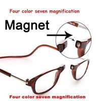 Hot Top Adjustable Front Glasses Connect unisex reading glasses magnetic fashion men women's brand design reading eyeglasses