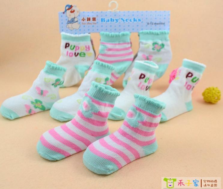 Colorful 0-2years kids baby toddler infant beautiful super softer cotton socks Socks Sox free shipping,Baby Loving Socks(China (Mainland))