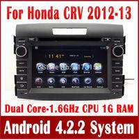 Android 4.2.2 PC Car DVD Player for Honda CRV CR-V 2012 2013 w/ GPS Navigation Radio BT USB AUX DVR 3G WIFI Stereo Tape Recorder
